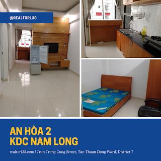 căn hộ 2 phòng ngủ chung cư An Hòa 2 khu Nam Long phường Tân Thuận Đông