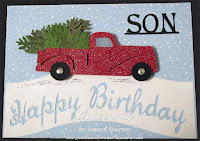 Son, Christmas-Birthday card, designed by Grace Baxter