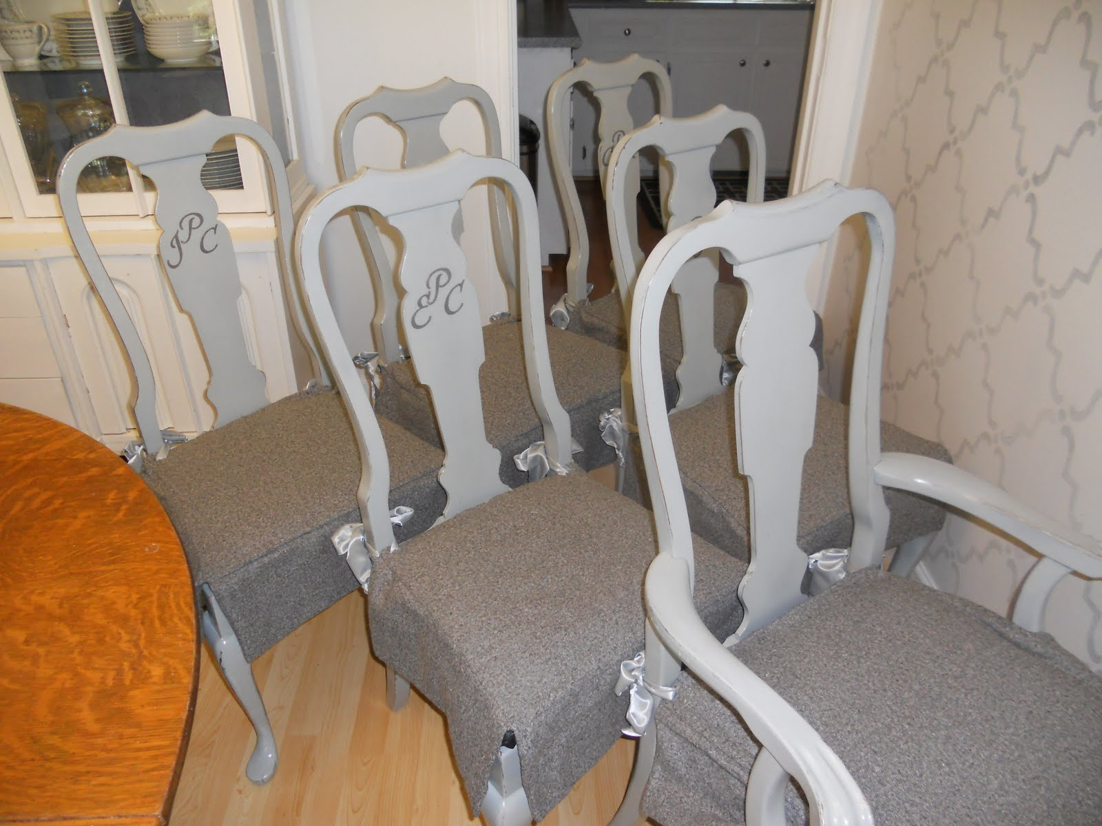 French Gray Dining Chairs