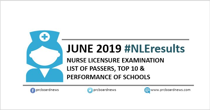 NLE RESULT: June 2019 nursing board exam list of passers