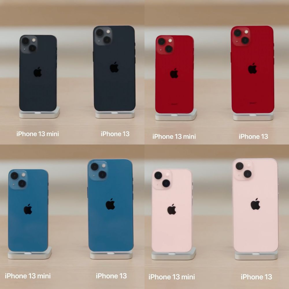 iPhone 13 series colors in real life