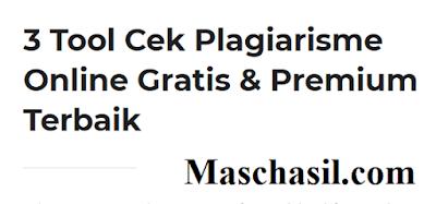 Rekomendasi Tool Cek Plagiarisme Online Gratis
