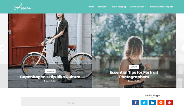 Aeon Blogger Template