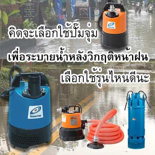 ปั๊มจุ่มสำหรับน้ำท่วม