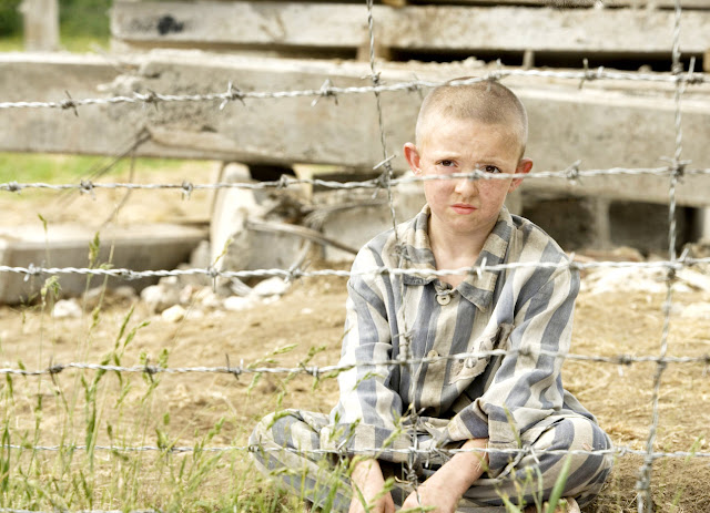 The boy in the striped pajamas.