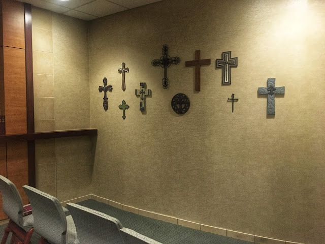 a wall of crosses