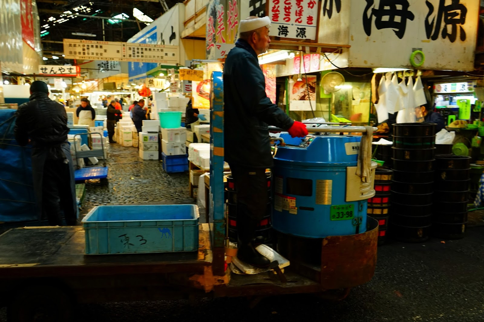 Le Chameau Bleu -  Marché au poisson de Tsukiji  Tourisme Tokyo