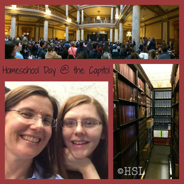 Homeschool Day @ the Capitol, Indiana Statehouse, Homeschool Highlights, Working and Homeschooling
