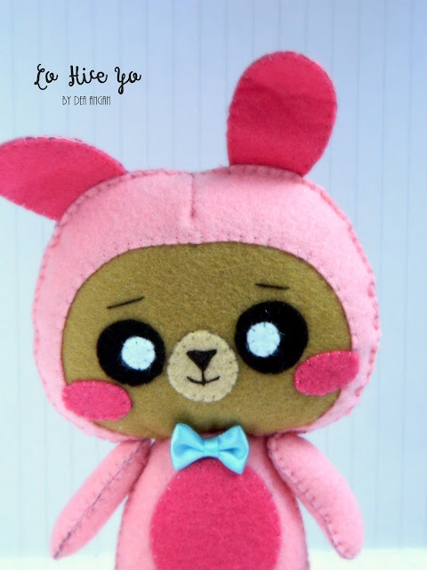 Kawaii Felt Bunny Bear Plush