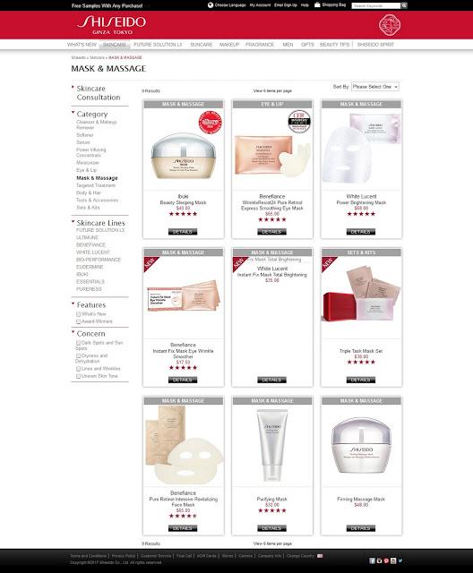 Halaman Resmi Produk Shiseido