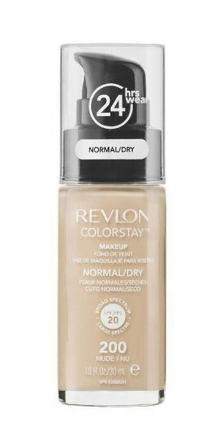 Fond de ten Colorstay pentru ten normal uscat Nude 200, 30 ml