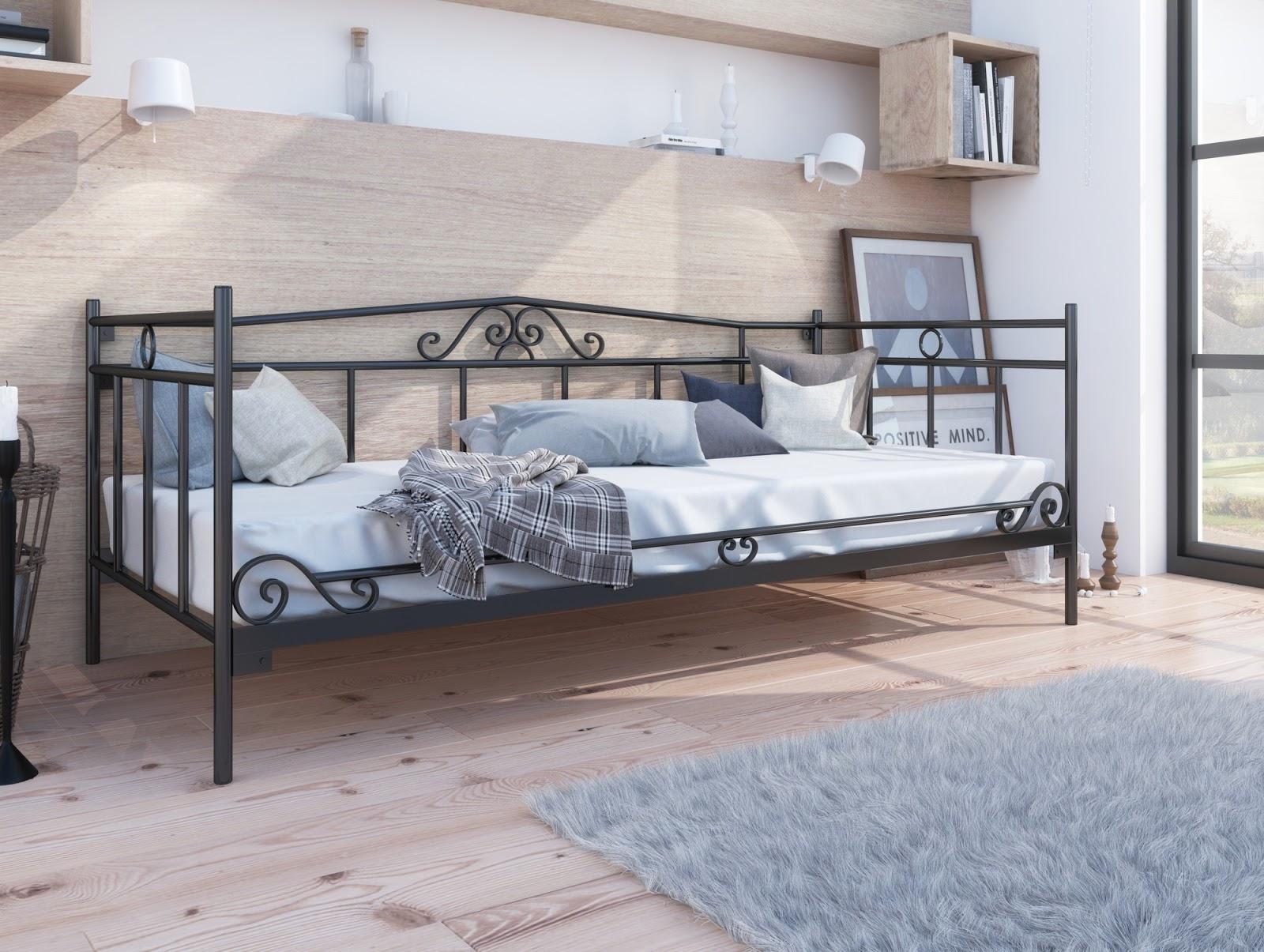 Łóżko metalowe sofa wzór 13