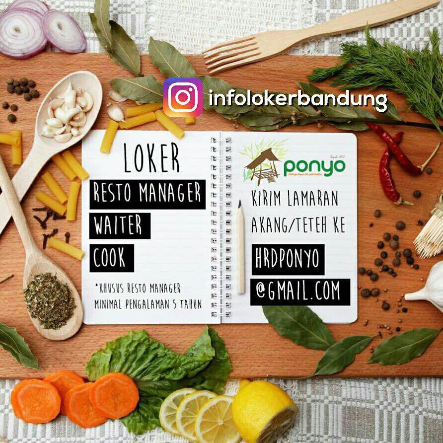 Lowongan Kerja Rumah Makan Ponyo Bandung Juli 2017
