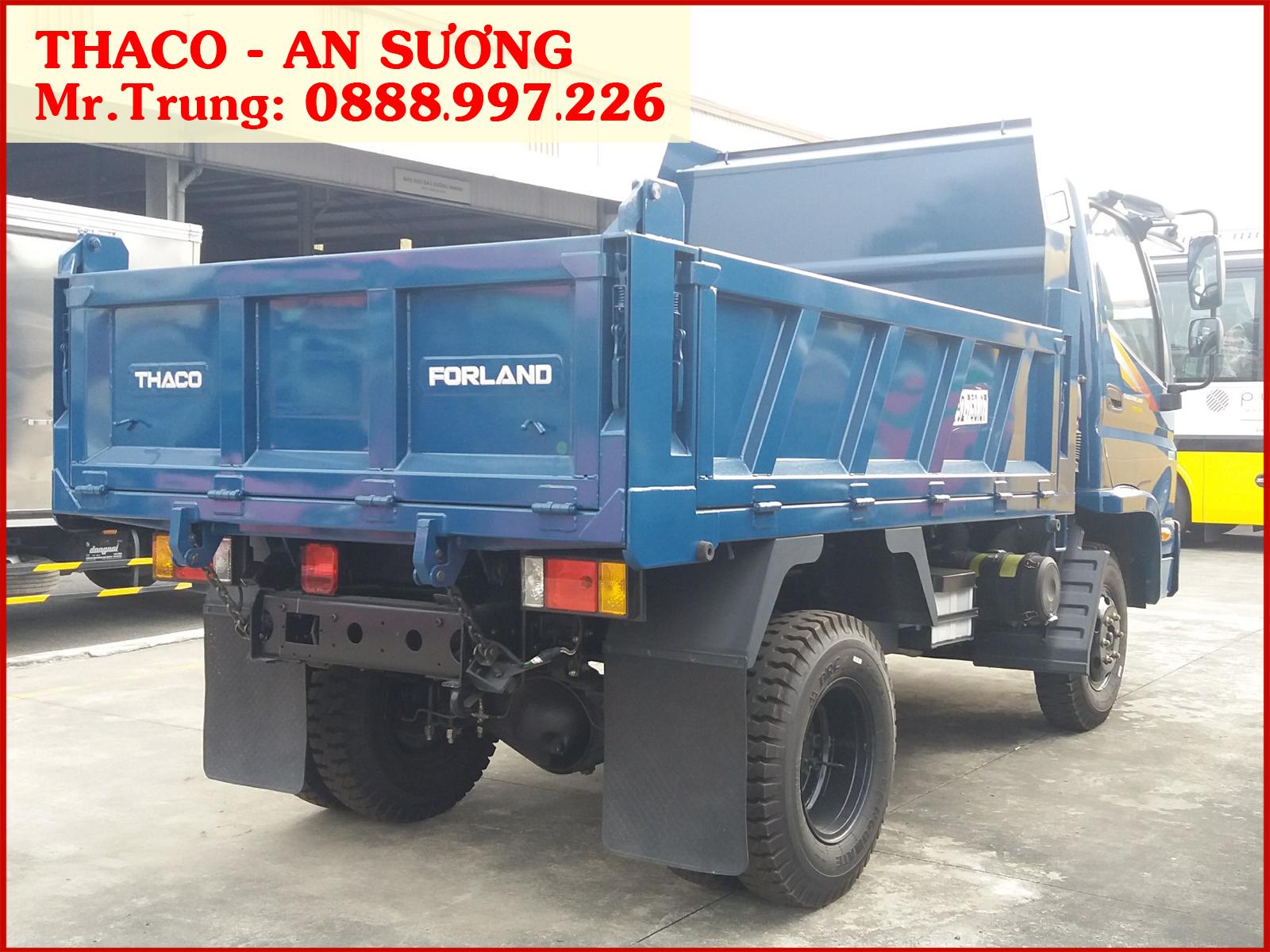 Xe ben Forland Thaco FD345.E4 tải 3,5 tấn / thùng 2,9 khối | Giá xe ben FD345