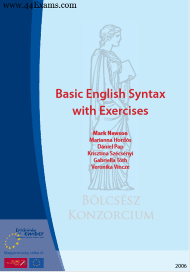 Basic-English-Syntax-with-Exercises-by-Mark-Newson-PDF-Book