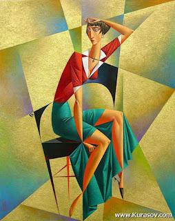 pinturas-femeninas-representaciones-geometricas mujeres-pinturas-estilo-abstracto-geometrico