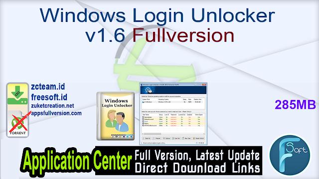 Windows Login Unlocker v1.6 Fullversion