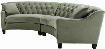 Riemann Curved Tufted Sectional Contemporary Sofa Living Room Furniture