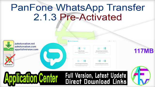 PanFone WhatsApp Transfer 2.1.3 Pre-Activated