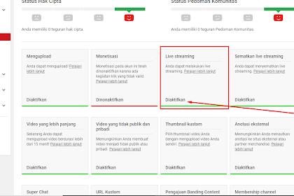 Tips Melakukan Live Streaming Di Youtube Menggunakan PC atau Laptop