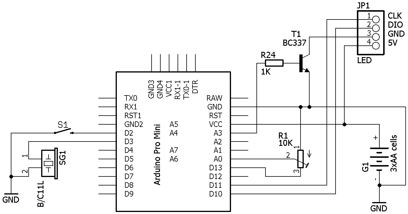 Doz' Blog: Simple, low power Arduino countdown timer.