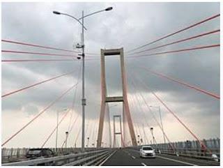 Jembatan Utama yang ditopang oleh Cable Stayed