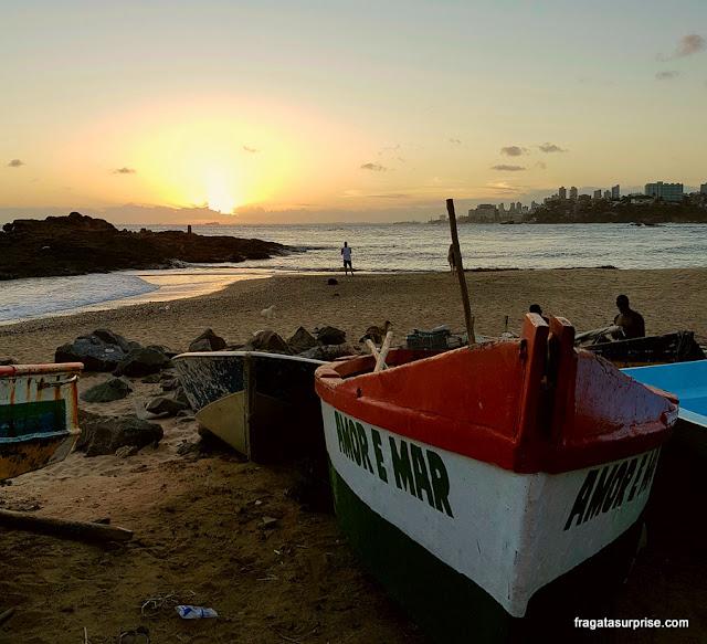 Pôr do sol no Rio Vermelho, Salvador
