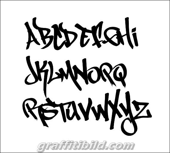 Graffiti tag fonts alphabet styles, graffiti tags a-z