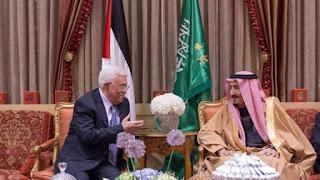 Presiden Palestina dan raja salman