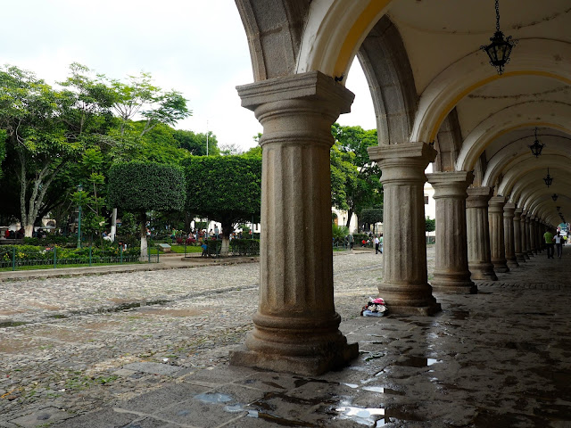 Arches by the central park in Antigua, Guatemala