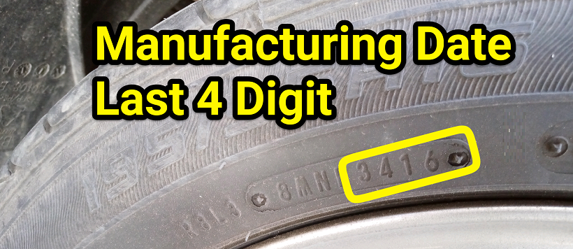 Four digit number as tire manufacturing date