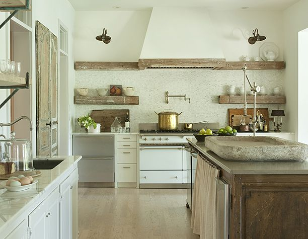 Shannon Bowers French country farmhouse rustic kitchen