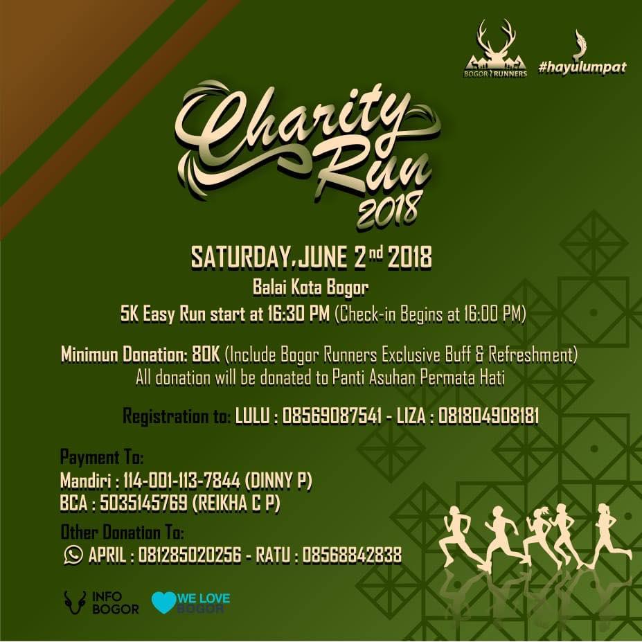 Bogor Runners Charity Run • 2018