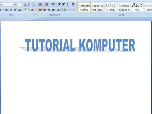 bukan hanya dapat dilsayakan menggunakan aplikasi Adobe Photoshop saja Cara Bikin Tulisan Efek Cermin Di Microsoft Word
