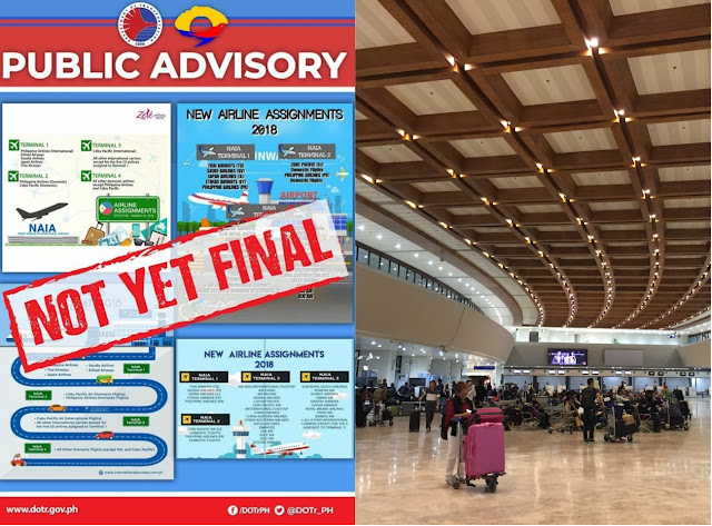 New Airline Assignments at the NAIA are NOT YET FINAL says DOTr MIAA