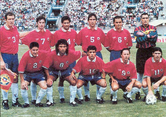 Formación de Chile ante Bolivia, amistoso disputado el 4 de febrero de 1996