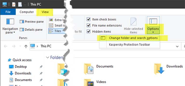 Cara Membuka File Explorer Options Di Windows 10