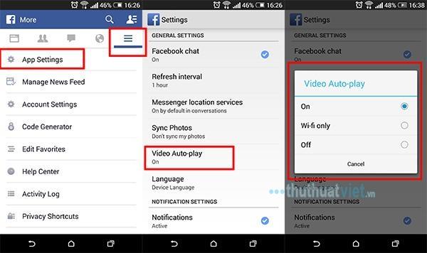 Hướng dẫn tắt tự động phát video trên Facebook