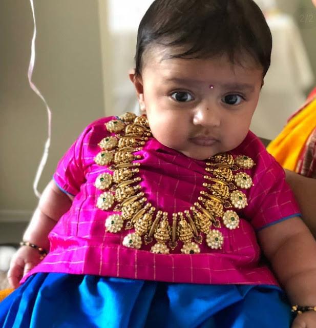 Cute Kiddo in Bottu Mala by Mangatrai Neeraj