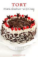 Tort czekoladowo - wiśniowy (również bez glutenu)