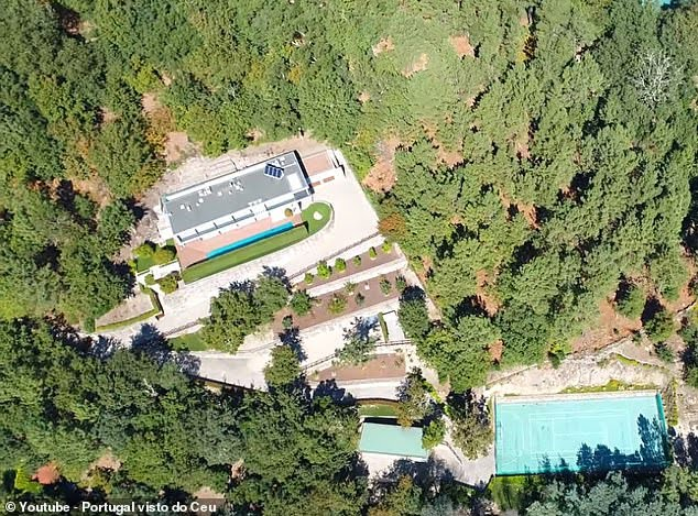 Cristiano Ronaldo House and Cars- Bird view of Cristiano Ronaldo House in Portugal