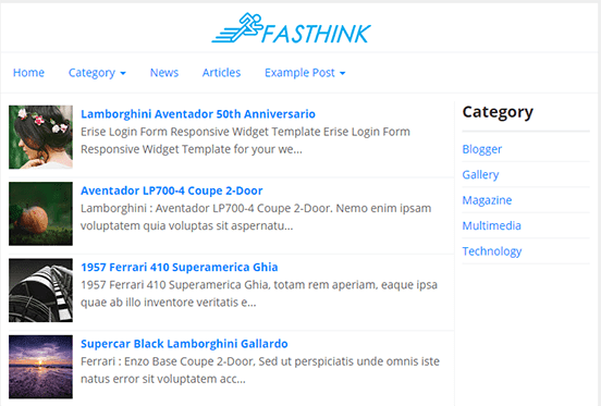 Super Fast Think Blogger template