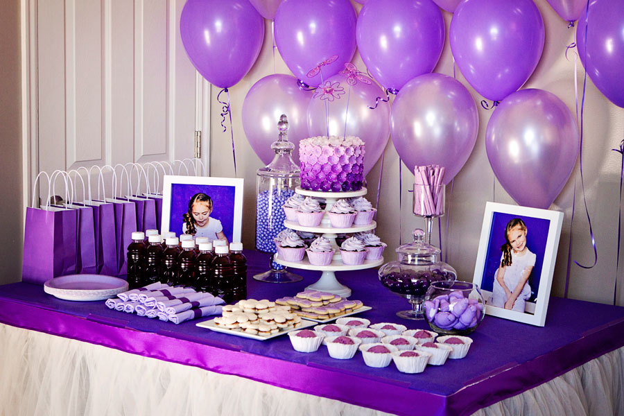 Purple Birthday Themes Romefontanacountryinncom