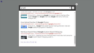 Membuat Popup Search Box Google Custom Search
