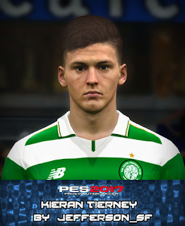 PES 2017 Faces Kieran Tierney by FaceEditor Jefferson_SF