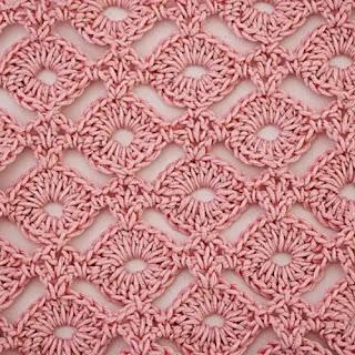 Punto Rueditas o Círculos a Crochet
