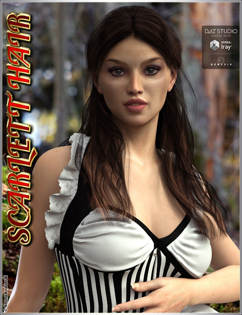 Scarlett Hair for Genesis 3 Female