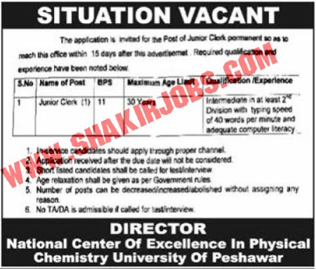 Jobs in National Center of Excellence In Physical Chemistry Jobs September 2020