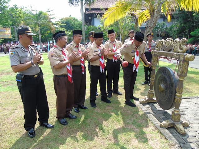 Kodim Karanganyar - Kirab Panji Tunas Kelapa Gerakan Pramuka Tahun 2019 Kabupaten Karanganyar