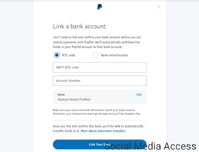 Link Bank Account